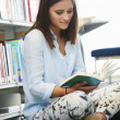 Girl  Studying In Library — Stock Photo #59874265