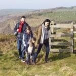 Family on Coastal Path — Stock Photo #59875025