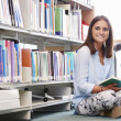 Girl  Studying In Library — Stock Photo #59875607