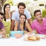 Friends Celebrating Enjoying Meal — Stock Photo #59875777