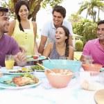 Friends Celebrating Enjoying Meal — Stock Photo #59877355
