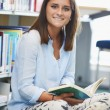 Girl  Studying In Library — Stock Photo #59877659