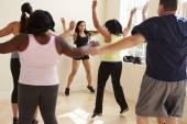 Fitness Instructor  For Overweight People — Stock Photo