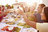 People Enjoying Outdoor Summer Meal — Stock Photo
