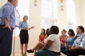 Overweight People Attending Diet Club — Stock Photo