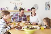 Family Eating Lunch — Stock Photo
