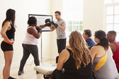 Overweight People At Diet Club — Stock Photo