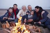 Multi Generation Family Having Barbeque — Stock Photo