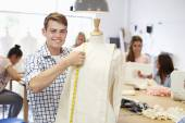 Students Studying Fashion And Design — Stock Photo