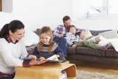 Family Relaxing Together — Stock Photo