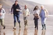 Multi Generation Family Running — Stock Photo