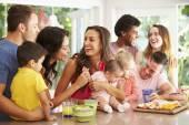 Families Enjoying Snacks — Stock Photo