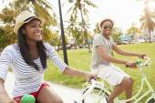 Couple  On Bicycle Ride — Photo