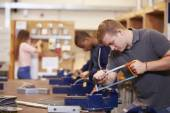 Students Training To Become Electricians — Stock Photo