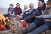 Multi Generation Family Having Barbeque — Stock Photo