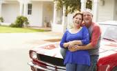 Senior Couple With Restored Car — Stock Photo
