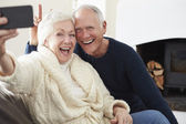 Senior Couple  Taking Selfie — Stock Photo