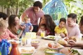 Families Celebrating Child's Birthday — Stock Photo