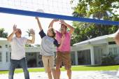 Male  Family Playing Volleyball — Stock Photo