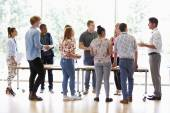 Teacher With College Students — Stock Photo