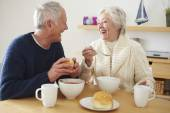 Senior Couple Having  Lunch — Stock Photo