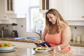 Overweight Woman On Diet — Stock Photo