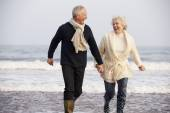 Senior Couple Running — Stock Photo