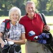 Couple on golf course — Stock Photo #61027797