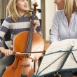 Girl playing cello — Stock Photo #61028095