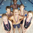 Winning swimming team — Stock Photo #61028647