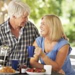 Senior couple eating — Stock Photo #61028711