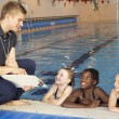 Girls having swimming lesson — Stock Photo #61028905