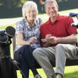 Couple on golf course — Stock Photo #61029251