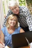 Senior Couple Working — Stock Photo