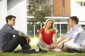 Mixed group of students — Stock Photo