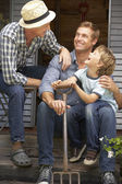 Father, son and grandson — Stock Photo