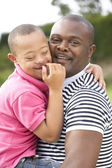 Father with Downs Syndrome son — Stock Photo
