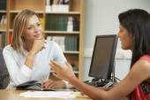 College tutor with student — Stock Photo