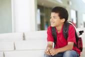 Boy at school — Stock Photo
