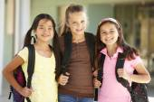 Girls in school — Stock Photo
