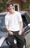 Man with car — Stock Photo