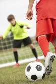 Boy goalkeeper — Photo