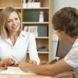 College tutor with student — Stock Photo #61032201