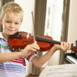 Young boy playing violin — Stock Photo #61030699