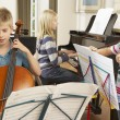 Children playing musical instruments — Stock Photo #61031305