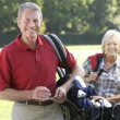 Couple on golf course — Stock Photo #61031563