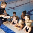 Girls having swimming lesson — Stock Photo #61032101