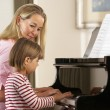 Girl playing piano on lesson — Stock Photo #61032601