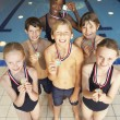 Winning swimming team — Stock Photo #61032607