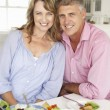 Mid age couple enjoying meal — Stock Photo #61032701
